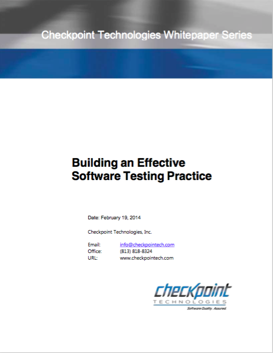 Building an Effective Software Testing Practice